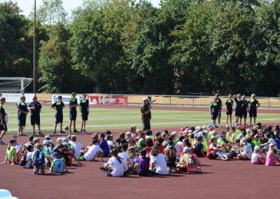 Asnprache bei dem Fussballcamp